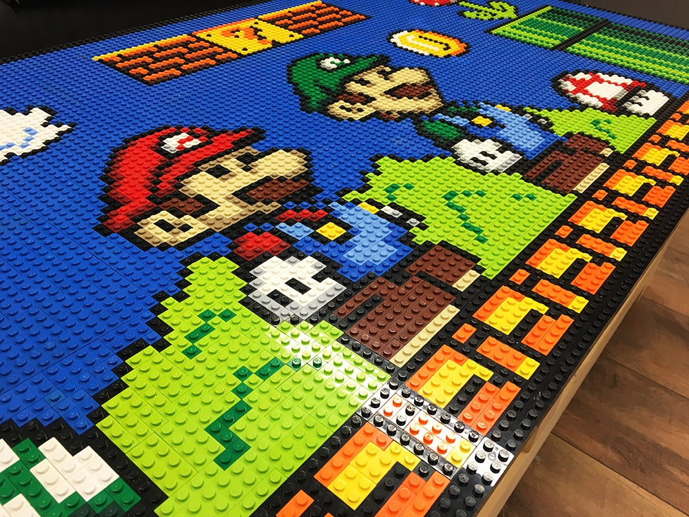 Super Mario Brothers Lego table