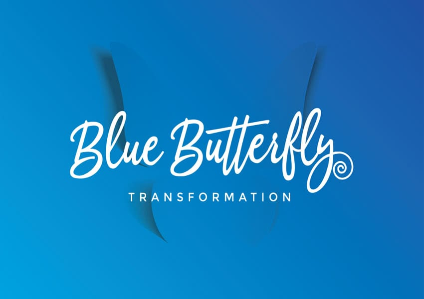 Logo design - Blue Butterfly