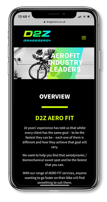 D2Z mobile web design