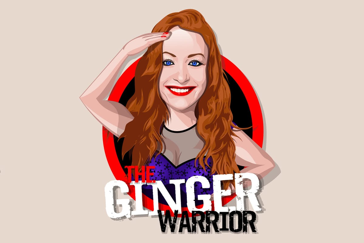 Ginger Warrior character design