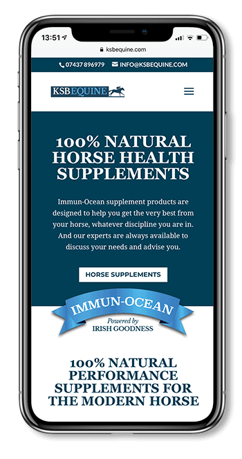 KSB Equine mobile web design