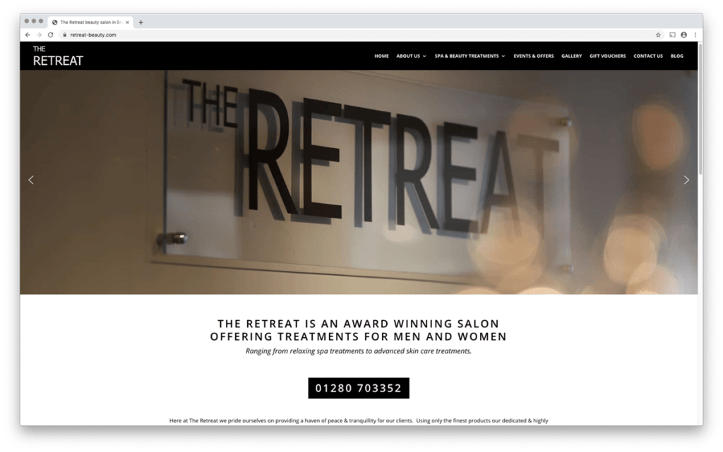 Retreat responsive web design